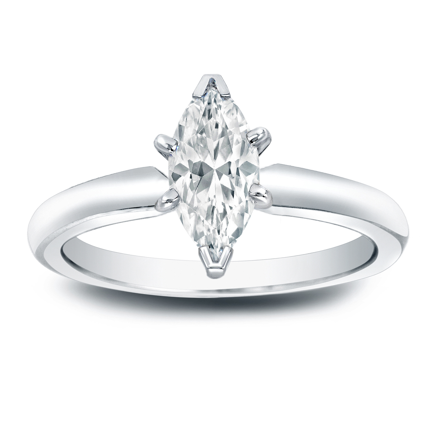 DESTINY Solitaire Diamond Engagement Ring In 14K White Gold