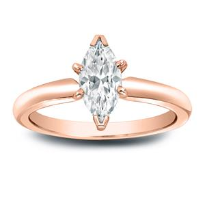 DESTINY Solitaire Diamond Engagement Ring In 14K Rose Gold