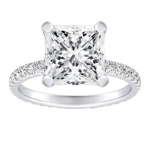 ARABELLA Diamond Eternity Engagement Ring In 14K White Gold