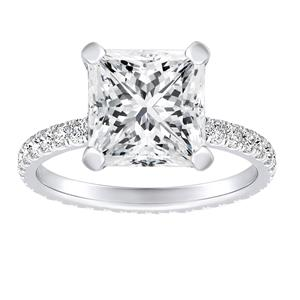 ADRIANA Diamond Eternity Engagement Ring In 14K White Gold