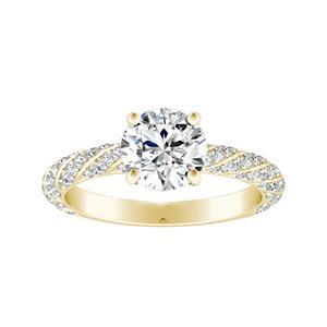 VIVIEN Classic Diamond Engagement Ring In 14K Yellow Gold