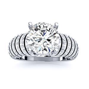 VALE Modern Engagement Ring In 14K White Gold