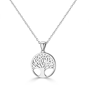 FAMILY TREE Sterling Silver Wish Tree Necklace