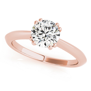 Lilly Solitaire Diamond Engagement Ring in 14K Rose Gold
