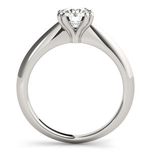 Lilly Solitaire Diamond Engagement Ring in 14K White Gold With 0.50ct. Round Diamond