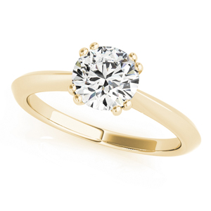 Lilly Solitaire Diamond Engagement Ring in 14K Yellow Gold