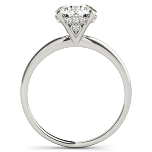 Alecia Solitaire Diamond Engagement Ring in 14K White Gold