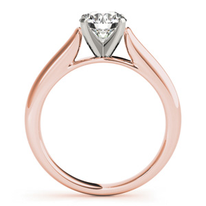 Ava Solitaire Diamond Engagement Ring in 14K Rose Gold