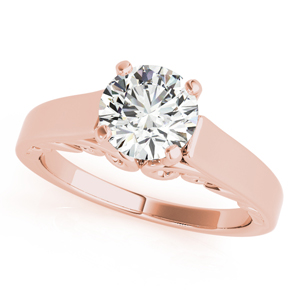 Eliza Solitaire Diamond Engagement Ring in 14K Rose Gold