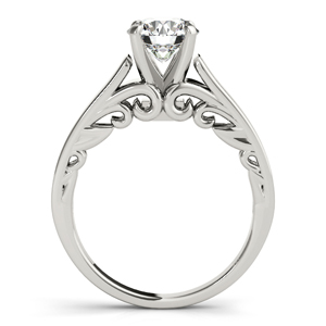 Eliza Solitaire Diamond Engagement Ring with Wedding Ring in 14K White Gold
