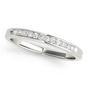 CAMELLIA Classic Diamond Wedding Ring in 14K White Gold