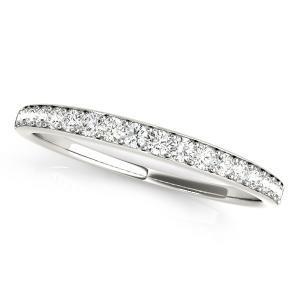 OLIVIA Classic Diamond Wedding Ring in 14K White Gold