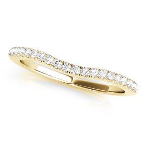 SARA Diamond Wedding Ring in 14K Yellow Gold