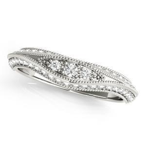 ARIA Vintage Diamond Wedding Ring in 14K White Gold