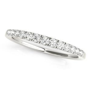 EMMA Classic Diamond Wedding Ring in 14K White Gold
