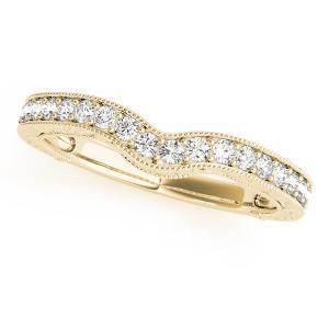 VIENNA Vintage Diamond Wedding Ring in 14K Yellow Gold