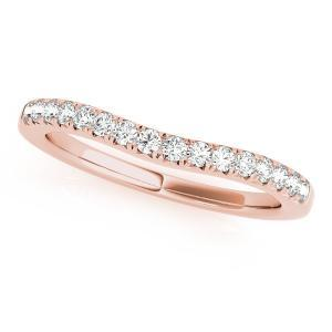 HOLLY Classic Diamond Wedding Ring in 14K Rose Gold
