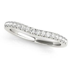 HOLLY Classic Diamond Wedding Ring in 14K White Gold