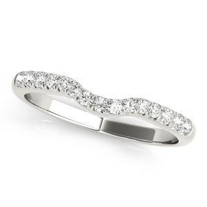 CHER Modern Diamond Wedding Ring in 14K White Gold