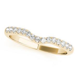 CHER Modern Diamond Wedding Ring in 14K Yellow Gold