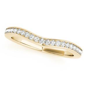 DIVA Diamond Wedding Ring in 14K Yellow Gold