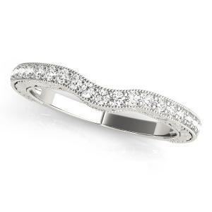 LILAC Diamond Wedding Ring in 14K White Gold