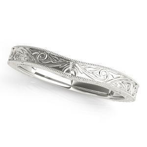 ASHTON Vintage Wedding Ring in 14K White Gold