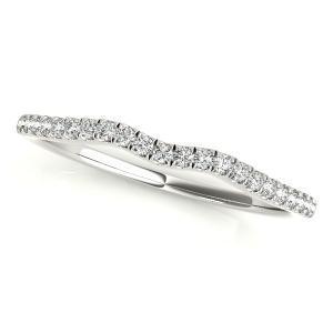 ASHLEY Modern Diamond Wedding Ring in 14K White Gold