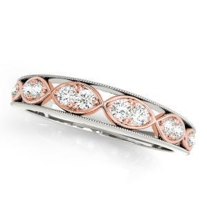 GILA Vintage Diamond Wedding Ring in 14K Two-Tone
