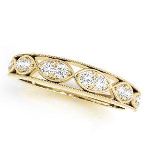 GILA Vintage Diamond Wedding Ring in 14K Yellow Gold