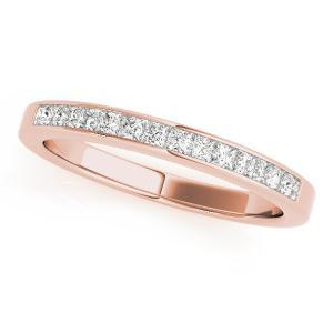 ASTER Classic Diamond Wedding Ring in 14K Rose Gold