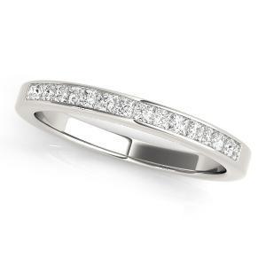 ASTER Classic Diamond Wedding Ring in 14K White Gold