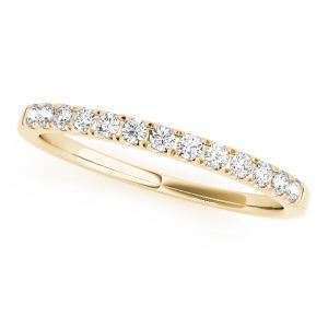 MIA Classic Diamond Wedding Ring in 14K Yellow Gold