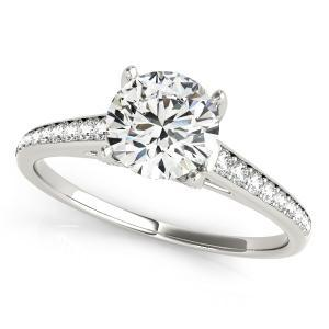 Olivia Diamond Engagement Ring in 14K White Gold