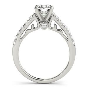 Sara Diamond Engagement Ring in 14K White Gold