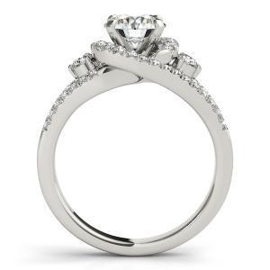 Emily Halo Diamond Engagement Ring in 14K White Gold