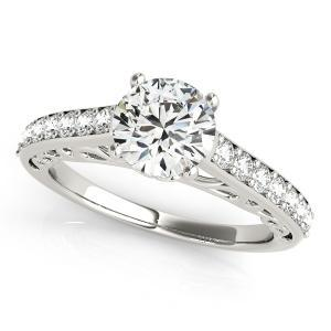 Lisa Diamond Engagement Ring in 14K White Gold