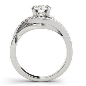 Adria Halo Diamond Engagement Ring in 14K White Gold