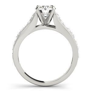 Gila Vintage Diamond Engagement Ring in 14K White Gold