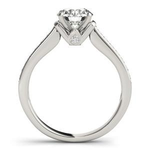 Charlene Diamond Engagement Ring in 14K White Gold