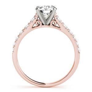 Felicity Diamond Engagement Ring in 14K Rose Gold