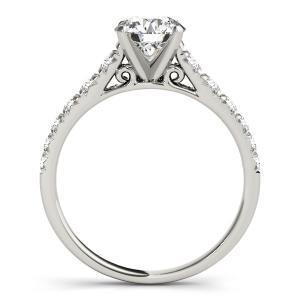 Felicity Diamond Engagement Ring in 14K White Gold
