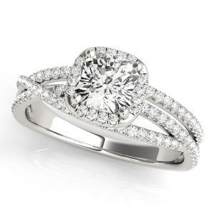 Sophia Halo Diamond Engagement Ring in 14K White Gold