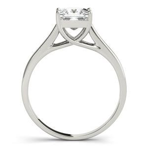 Elixir Solitaire Diamond Engagement Ring in 14K White Gold