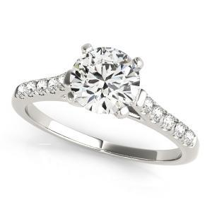 Mia Diamond Engagement Ring in 14K White Gold