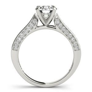 Belle Diamond Engagement Ring in 14K White Gold