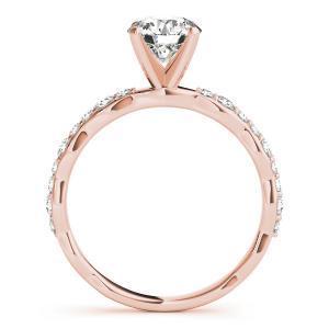 Juniper Modern Diamond Engagement Ring in 14K Rose Gold