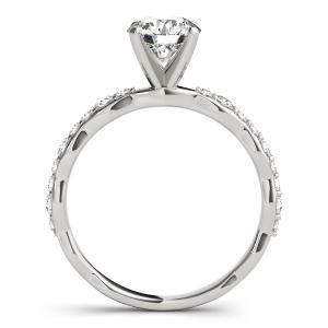 Juniper Modern Diamond Engagement Ring in 14K White Gold