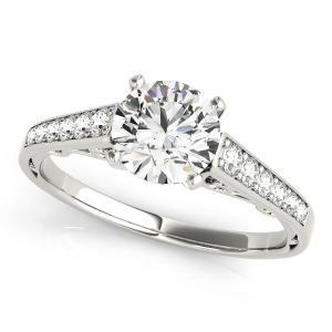 Lori Diamond Engagement Ring in 14K White Gold