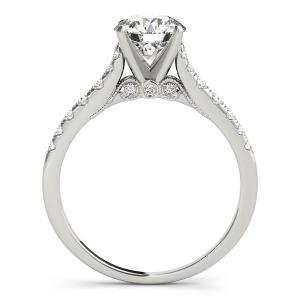 Iris Diamond Engagement Ring in 14K White Gold